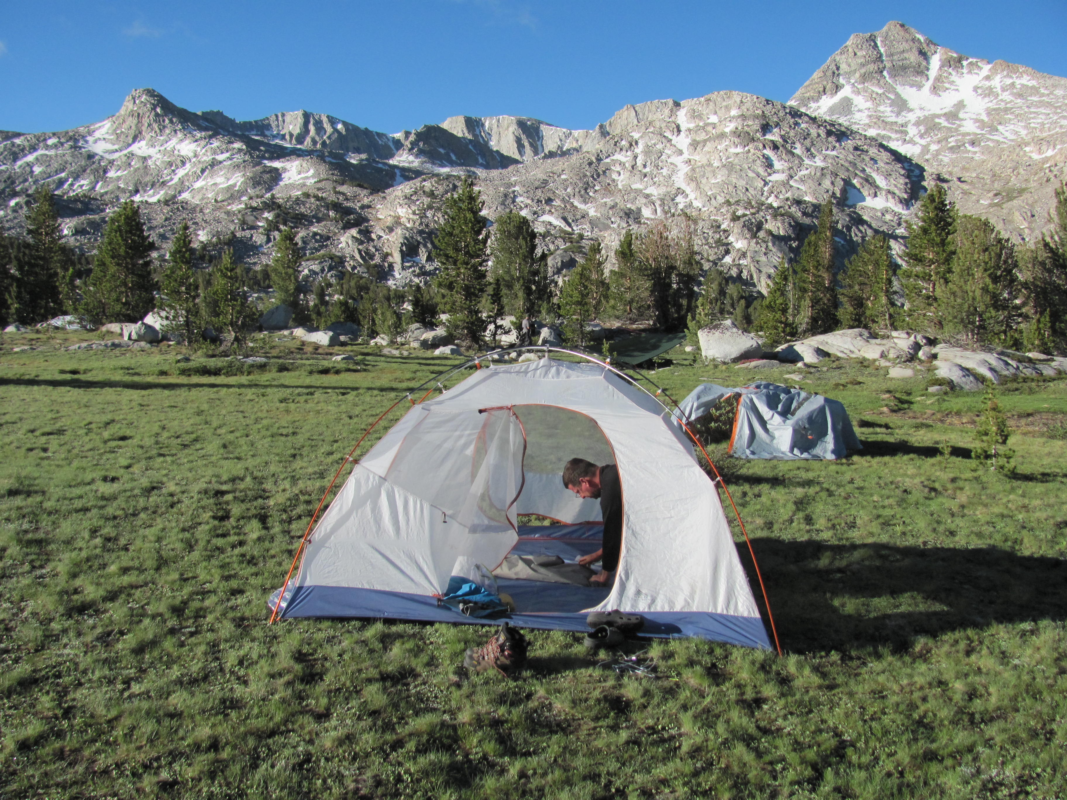 Camp Near Upper Golden Trout Lake